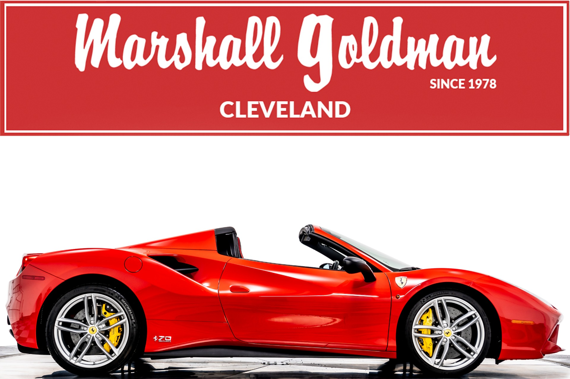 Used 2018 Ferrari 488 Spider 70th Anniversary For Sale 369 900 Marshall Goldman Motor Sales Stock W70th488